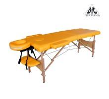 Массажный стол DFC NIRVANA, Optima, дерев. ножки, цвет горчичный (Mustard),    НОВИНКА