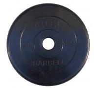 Диск обрезиненный, чёрного цвета, 51 мм, 25 кг  Atlet