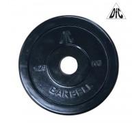 Диск обрезиненный DFC, чёрный, резин.втулка, 26мм, 1,25кг