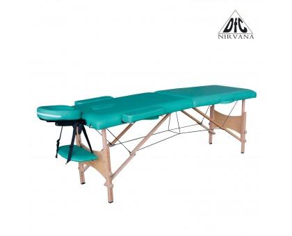 Массажный стол DFC NIRVANA, Optima, дерев. ножки, цвет зеленый (Green),    НОВИНКА
