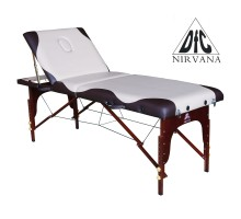 Массажный стол DFC NIRVANA, Relax Pro , дерев. корич. ножки, цвет бежевый с коричневым