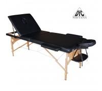 Массажный стол DFC NIRVANA, Relax Pro,  дерев. ножки, цвет черный (Black)