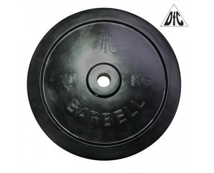Диск обрезиненный DFC, чёрный, резин.втулка, 31мм, 20кг