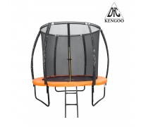 Батут DFC KENGOO II 5ft внутр.сетка, оранж/черн (152см),    НОВИНКА